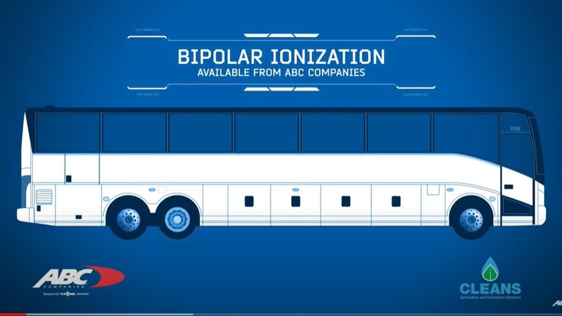 ABC's bipolar ionization in a motorcoach