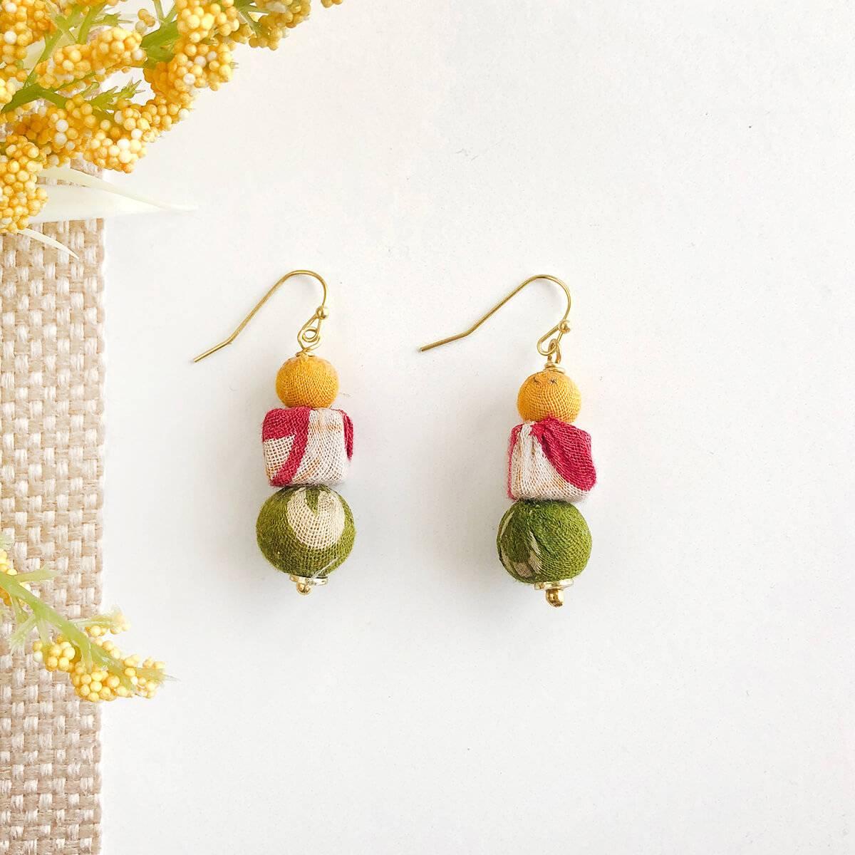 Kantha Shapes Drop Earrings